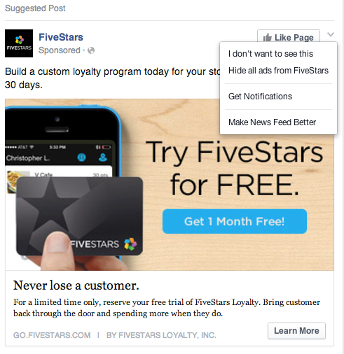 hide ads on facebook
