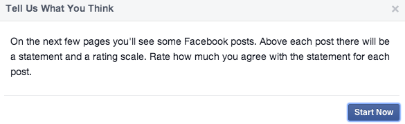 facebook news feed survey