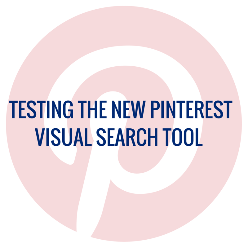 Testing The New Pinterest Visual Search Tool