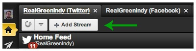 ADD STREAM BUTTON
