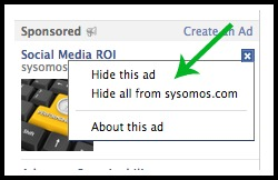 How to hide Facebook Ads