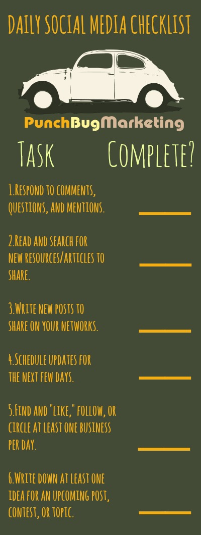 Daily Social Media Checklist