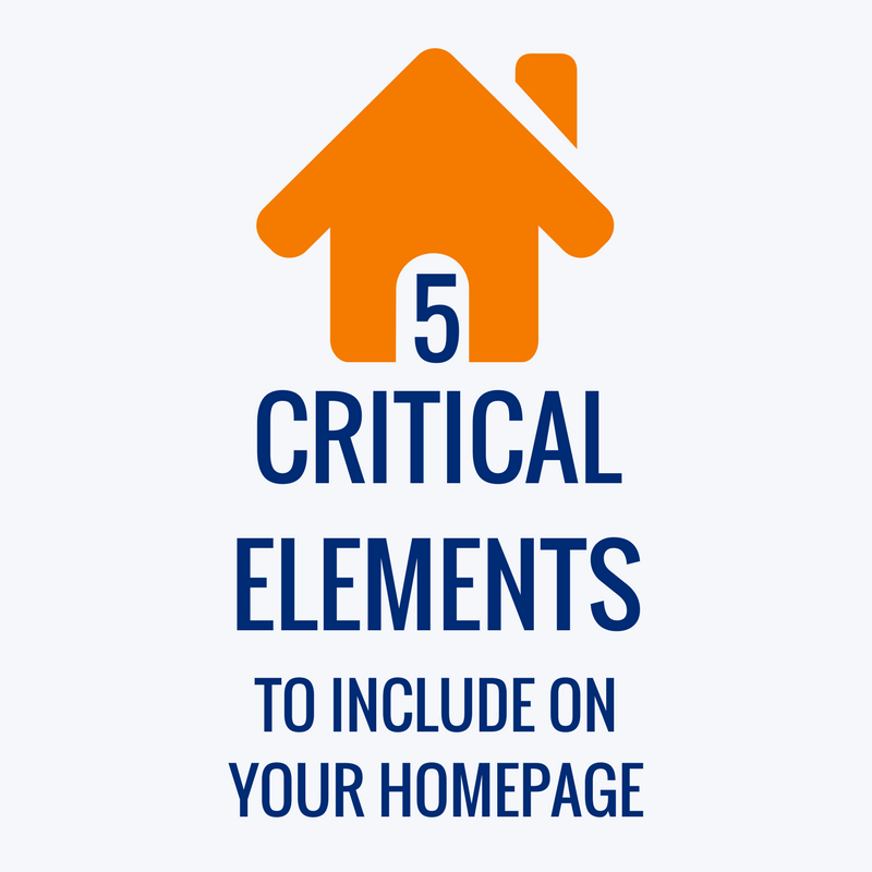 Critical Elements To Include On Your Homepage