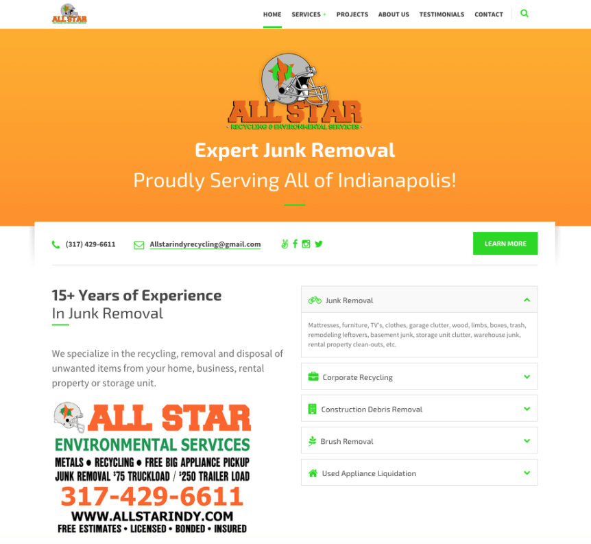 All Star Indy Website