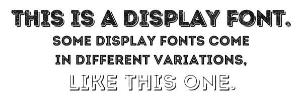 Example of Display Fonts
