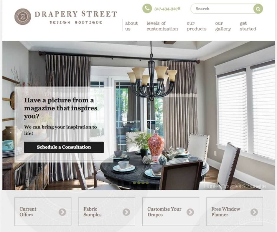 Drapery Street Website
