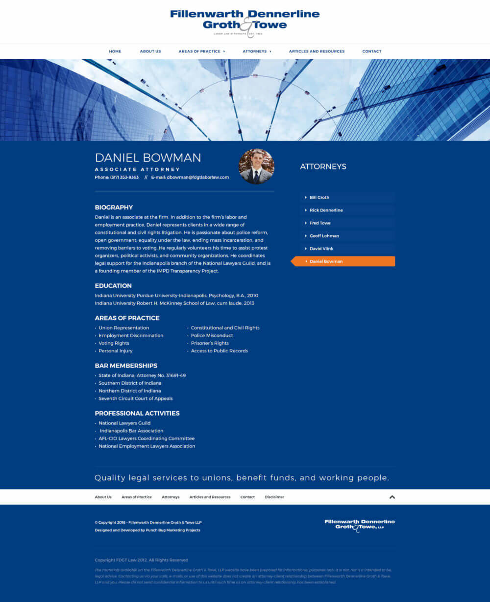 Fillenwarth Dennerline Groth & Towe Website - Daniel Bowman