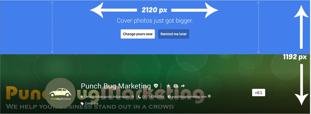 Google Plus Photo Dimensions