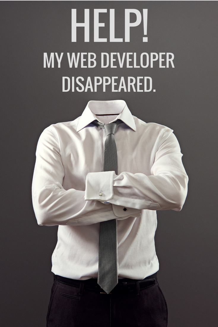 What to do if your web developer has disappeared