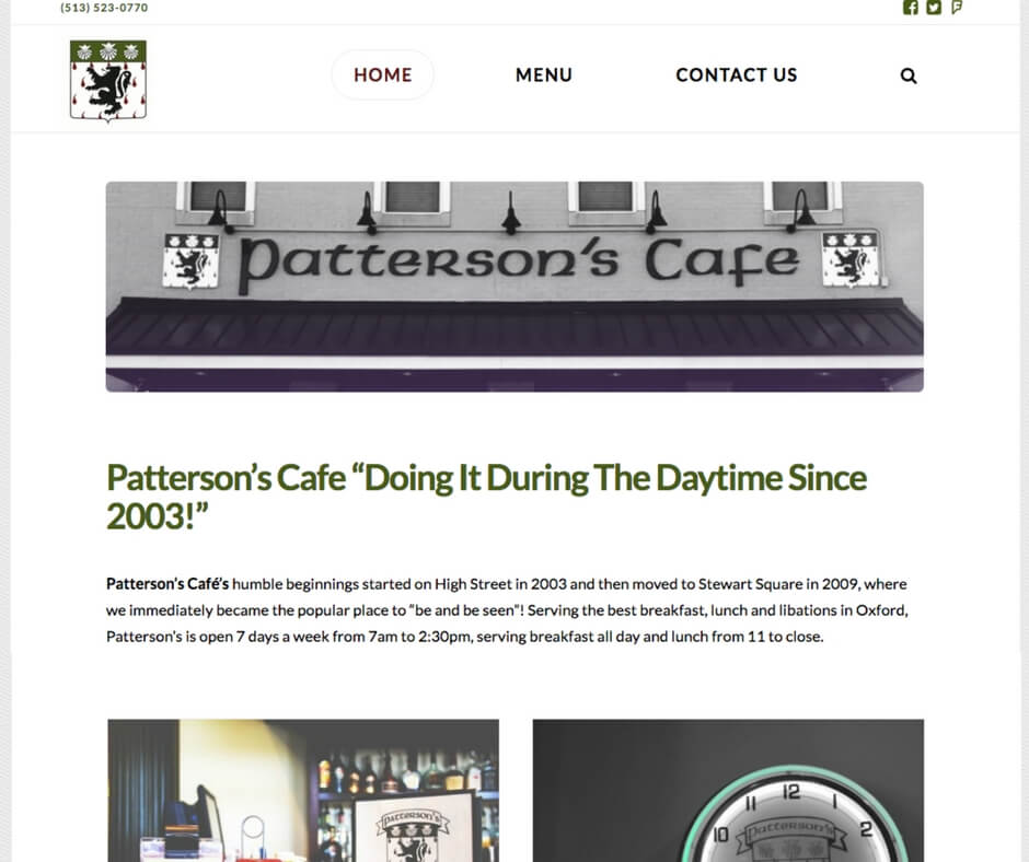 patterson's cafe after