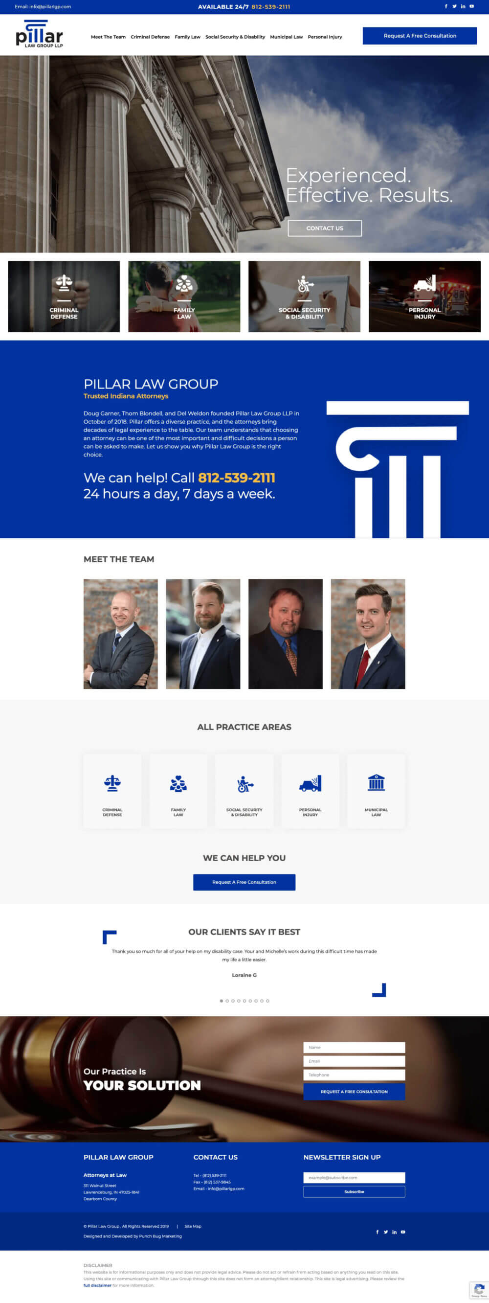 Pillar Law Group Website