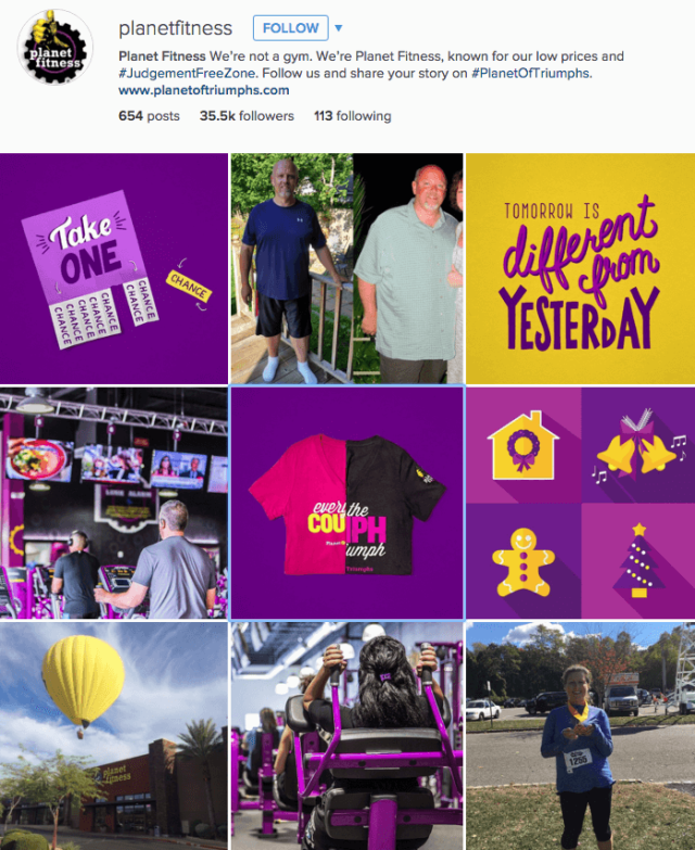 Planet Fitness killing it on Instagram