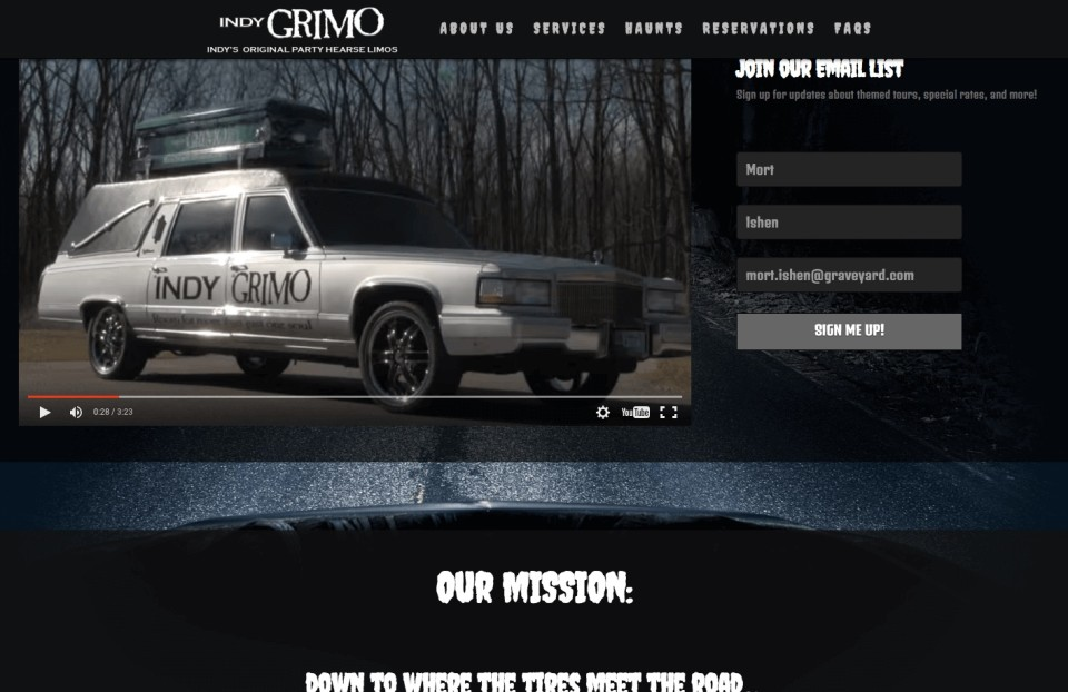 indy grimo website